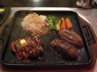 宮崎牛のヒレステーキとハンバーグステーキ