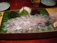 いかの姿造り:刺身の残りは天ぷらで
